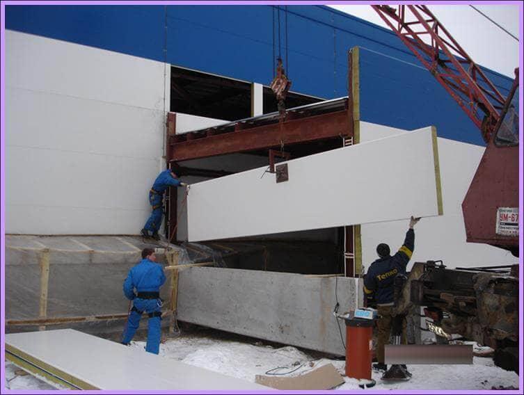 Монтаж строительных панелей