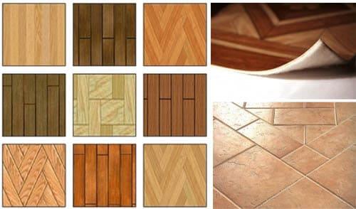 Types of floor coverings