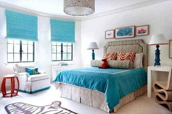 Бирюзовая спальня – особенности оформления комнаты