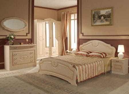 Спальная комната в коричневом цвете