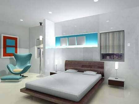 Спальная комната в белом цвете