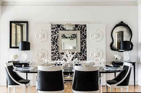 Чёрно-белая мебель