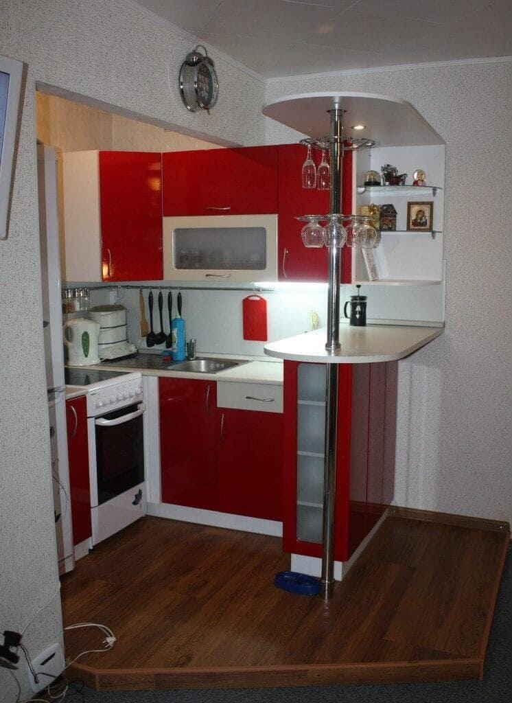 Кухня 2 на 3 метра - дизайн фото интерьера.