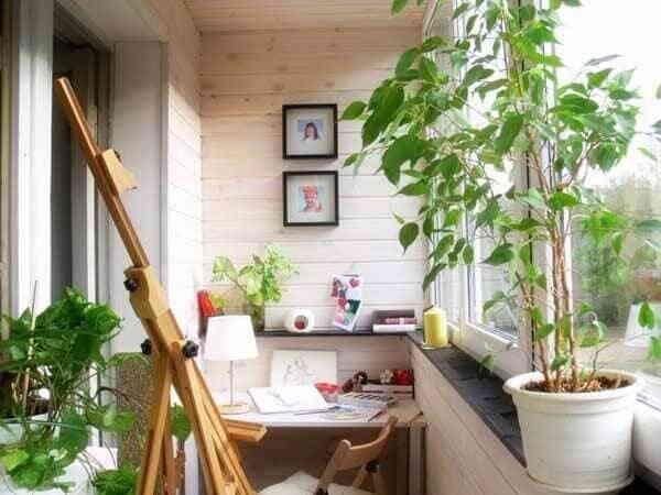 Фото отделки балконов внутри