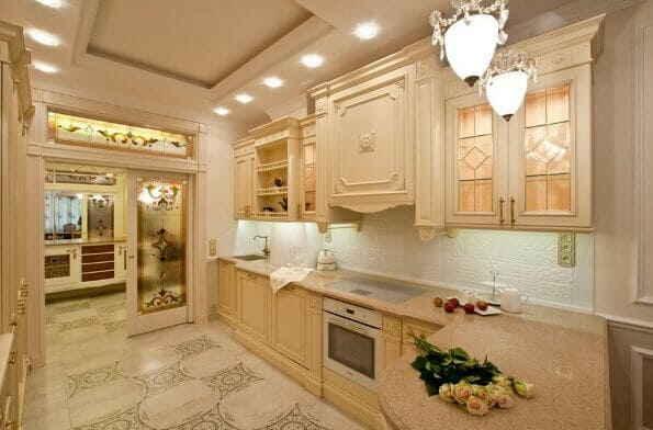 Интерьер кухни в стиле современная классика - роскошно и практично