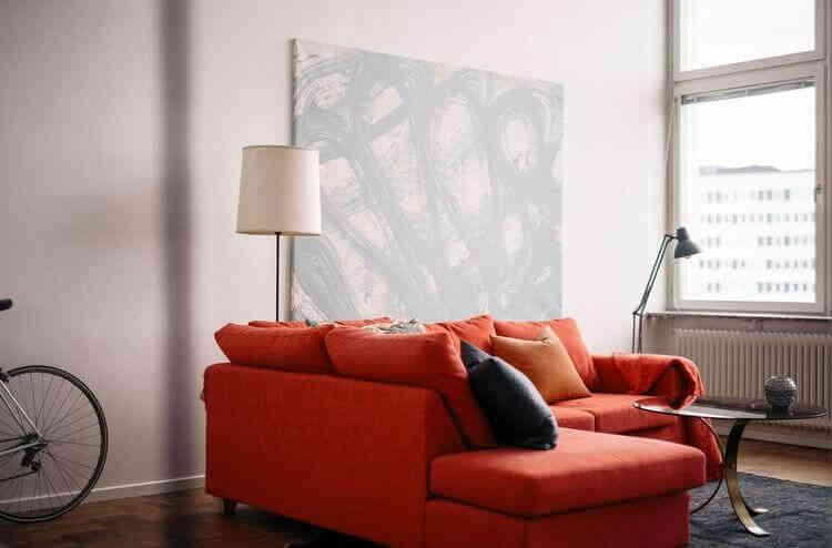 Интерьер квартиры в оранжевых тонах