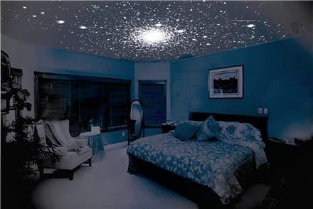Небо со звёздами в спальной комнате