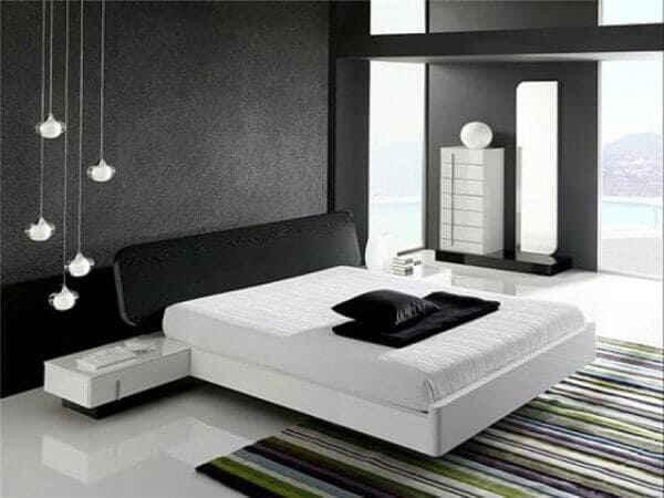 Мужская спальня в стиле Hi-Tech