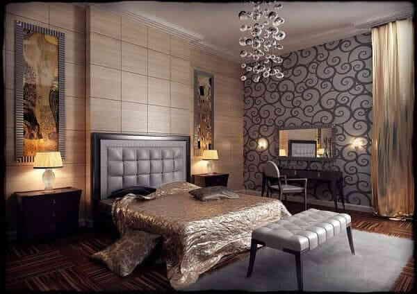 Мужская спальня в стиле Art Deco