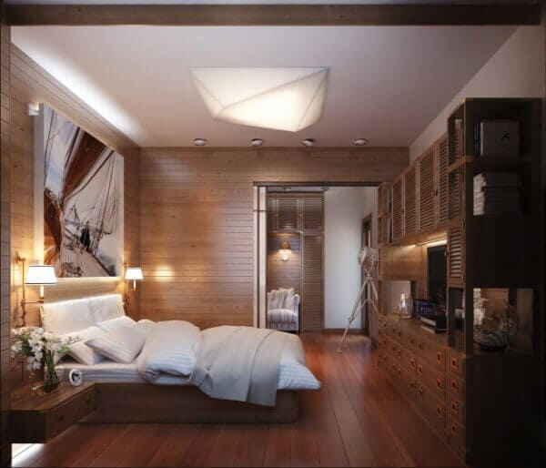Мужская спальня в морском стиле