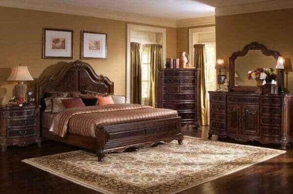 Мужская спальня в классическом стиле