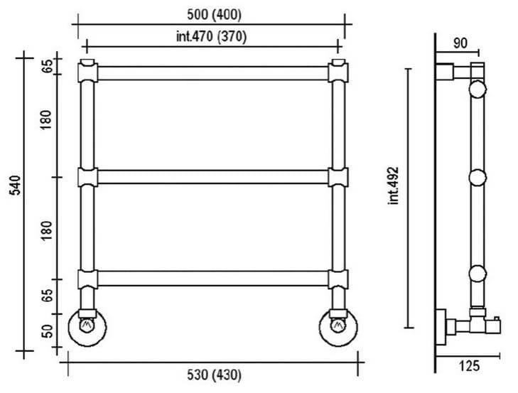 Схема системы сушителя полотенец