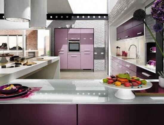 Кухни цвета фуксии: Фото