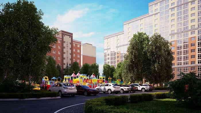 Инфраструктура А101: места для стоянок и площадки для детей