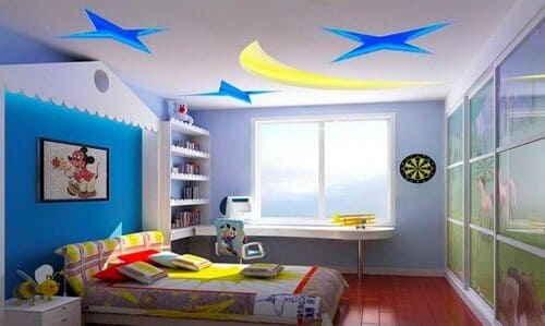 Натяжные потолки в детской комнате - Фото