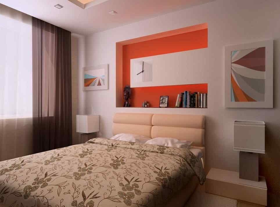 Ниша в спальне – общепризнанный элемент интерьера