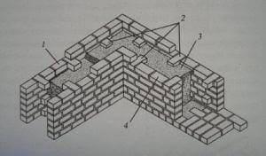 Облегчённая кирпично-бетонная анкерная укладка