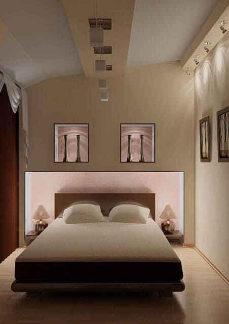 Оптимальный дизайн узкой спальни
