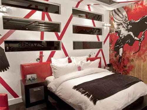Интерьер для спальной комнаты ребёнка «Панк»