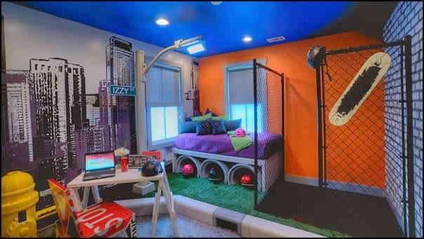 Смелое решение в декорировании комнаты для сна