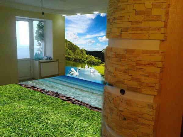 Наливные 3D полы и стены