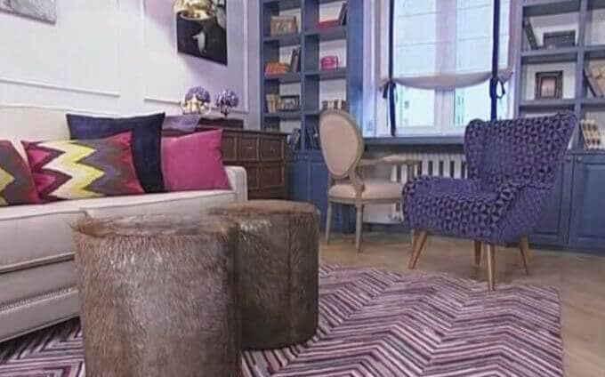 Интерьер спальной комнаты 60-х годов
