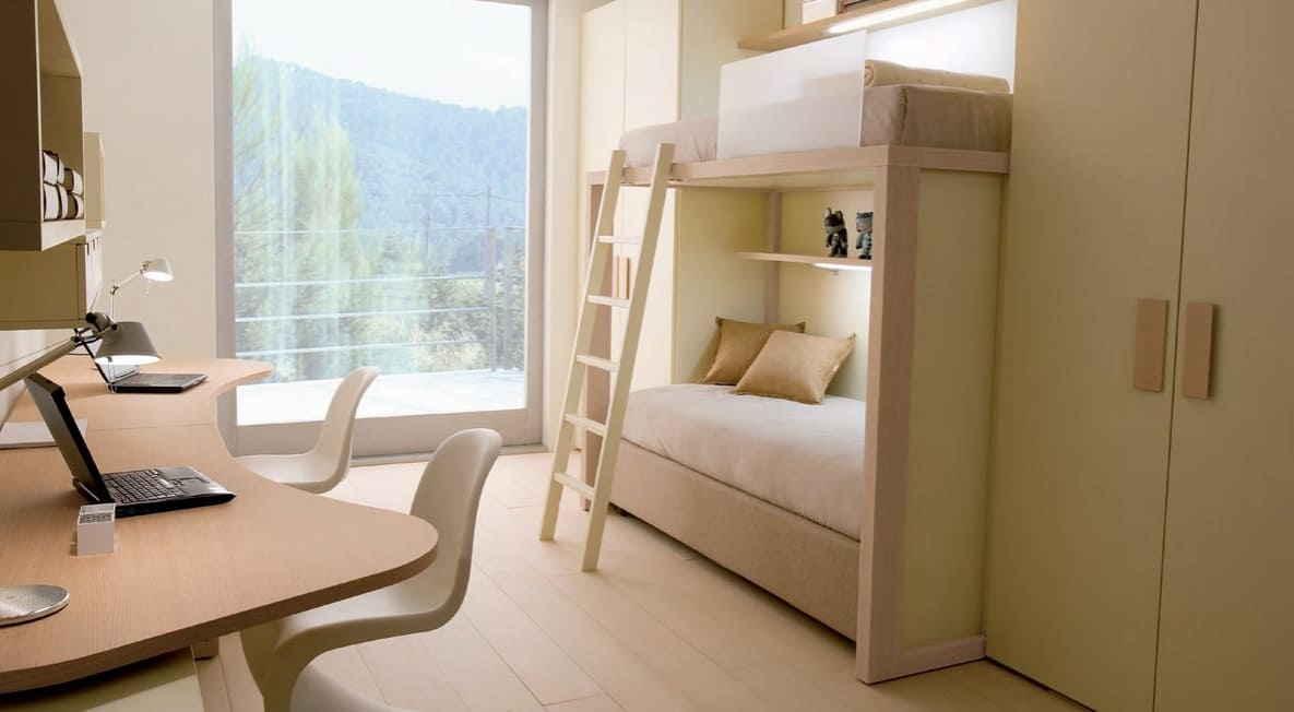 Датский дизайн для спальной комнаты школьников