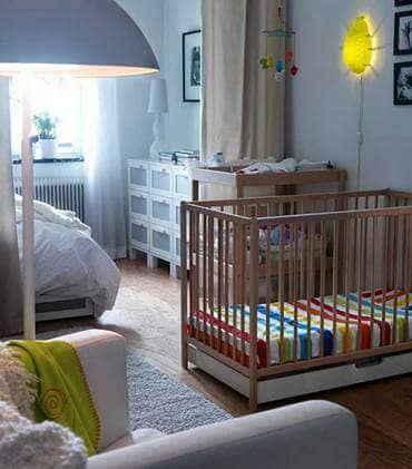 Размещение кроватки