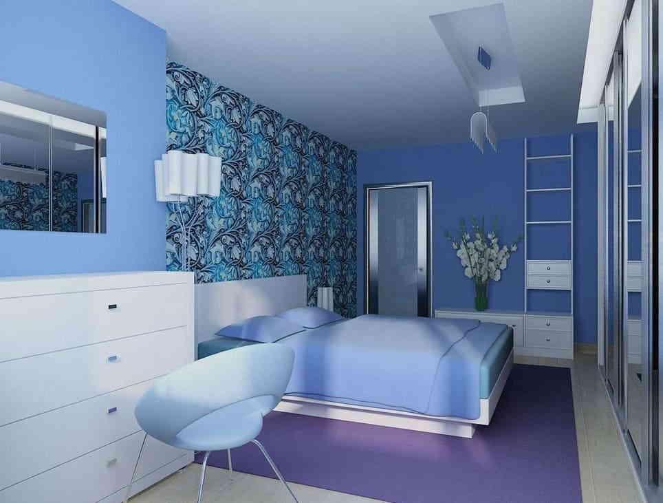 Спальня в голубом цвете – лёгкость и свобода