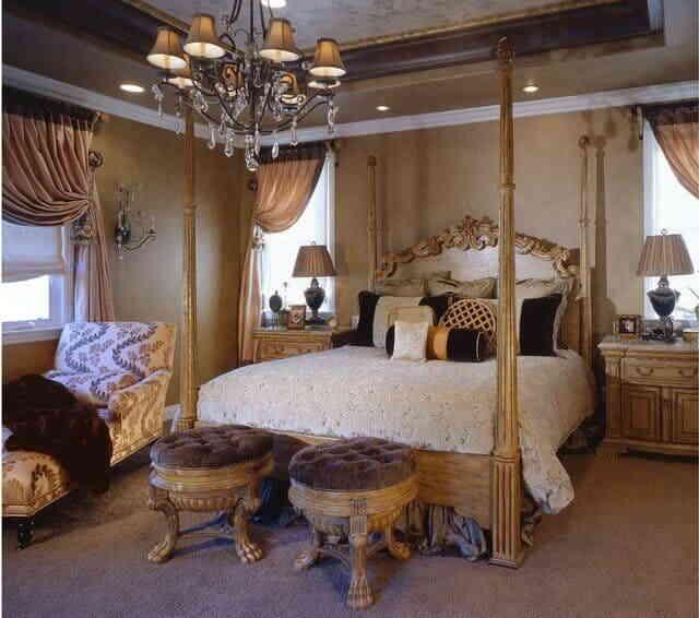 Спальня в шоколадных тонах