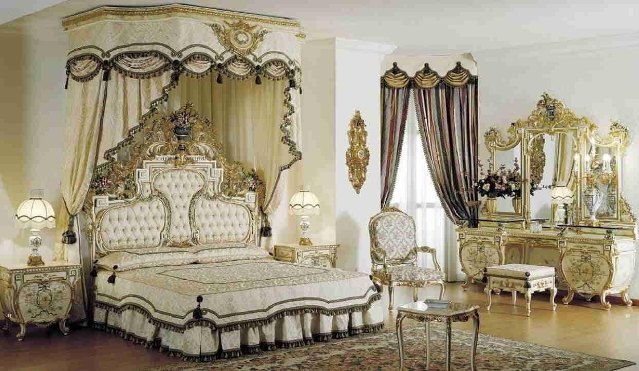 Спальня в стиле барокко – основные рекомендации по оформлению помещения