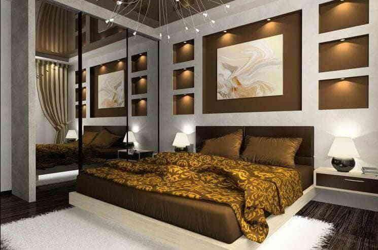 Спальня в стиле модерн - романтика прошлого века
